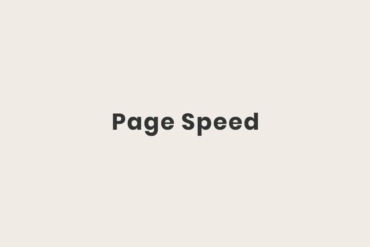 Was ist der Page Speed